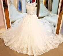 LS94478 Sexy slim elegant buttons back irish lace design kids gowns wedding dress bridal