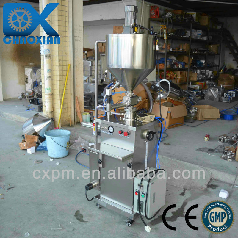 Guangzhou CX practical semi-automatic petroleum jelly filling machine(with heater and mixer)