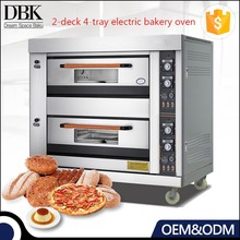 Time proof easy operation electric pastry 2 deck baking oven free standing pizza oven
