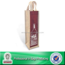 High Quality Custom Cheap Jute Wine Bag Bottle Bag