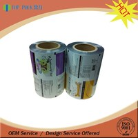 custom printing food grade material film roll plastic bopp film / plastic film roll
