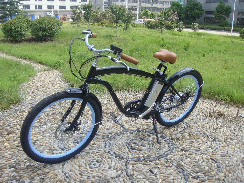 2015 hor sale and cheap price electric chopper beach cruiser bicycle for sale