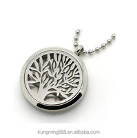 Round familytree 30mm Aromatherapy / Essential Oils Stainless Steel Perfume Diffuser Locket