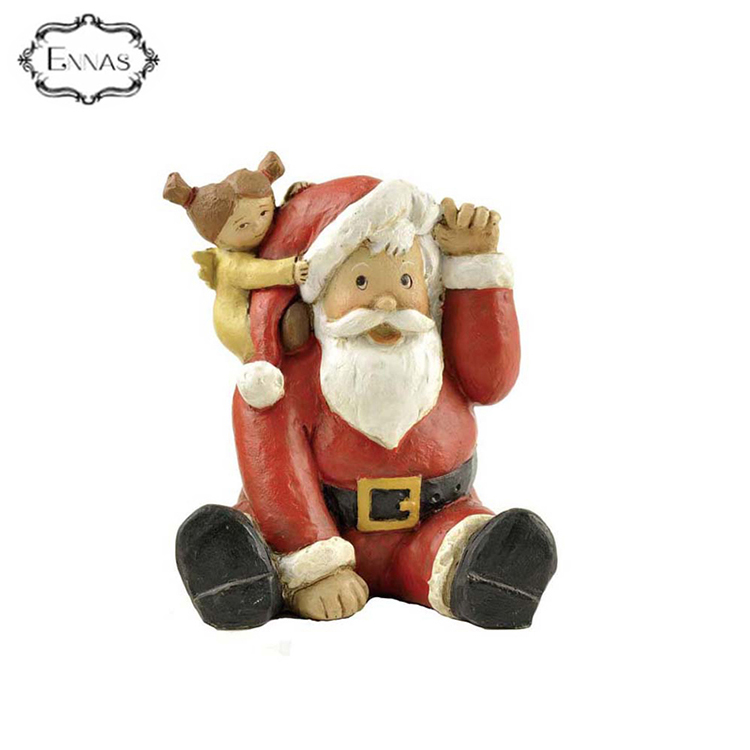 2018 Best selling cute resin Christmas figurine with good quality
