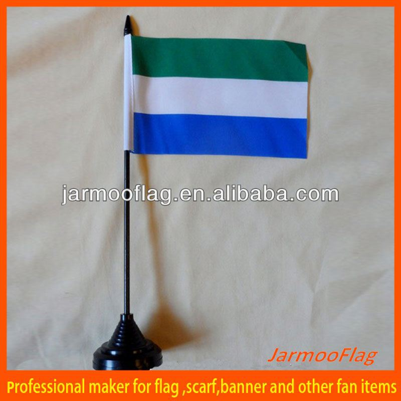 polyester desk sierra leonne table flag