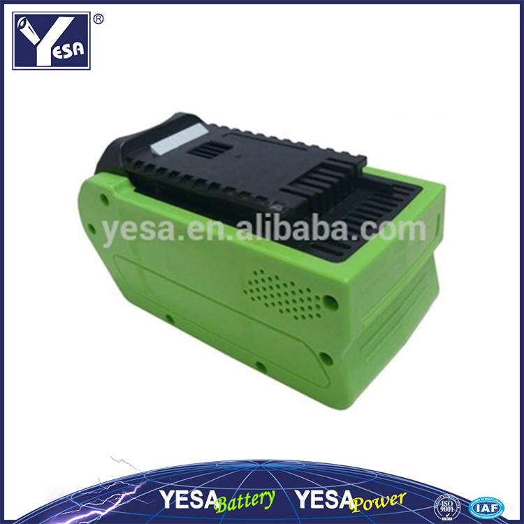 For Greek Works 40v G-MAX 3ah 4ah 5ah li-ion power tool rechargeable battery for Green Works 29472,29282,29462,29302,29662,
