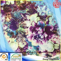 new design digital flower design printed chiffon shirt cloth fabirc