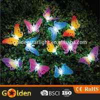 Color Embellishment Christmas Decoration 12 led Solar Butterfly String Light