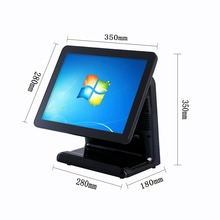 15 Inch Touch Screen Computer Billing Machine With Powder Monitor POS cash machine For Supermarket