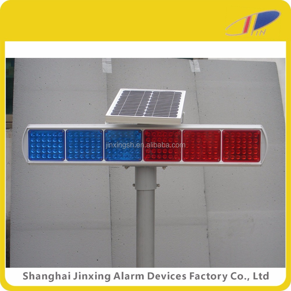 solar led warning light, led solar alarm light, portable solar led light