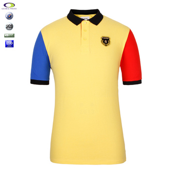Wholesale different color collar polo shirts man buy for Cheap polo collar shirts