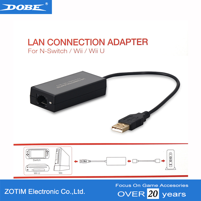 Factory Ac adapter for Nintendo Switch Lan Connection Adapter for Wii