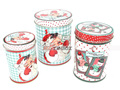 Round Christmas Gift Tin Box Christmas Metal Tin Can