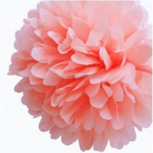 Making chinese high quality tissue paper pom poms, paper flower ball for wedding