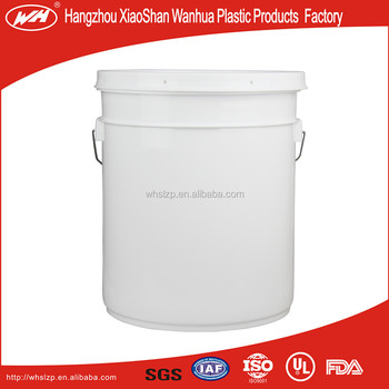 20L straight mouth plastic bucket
