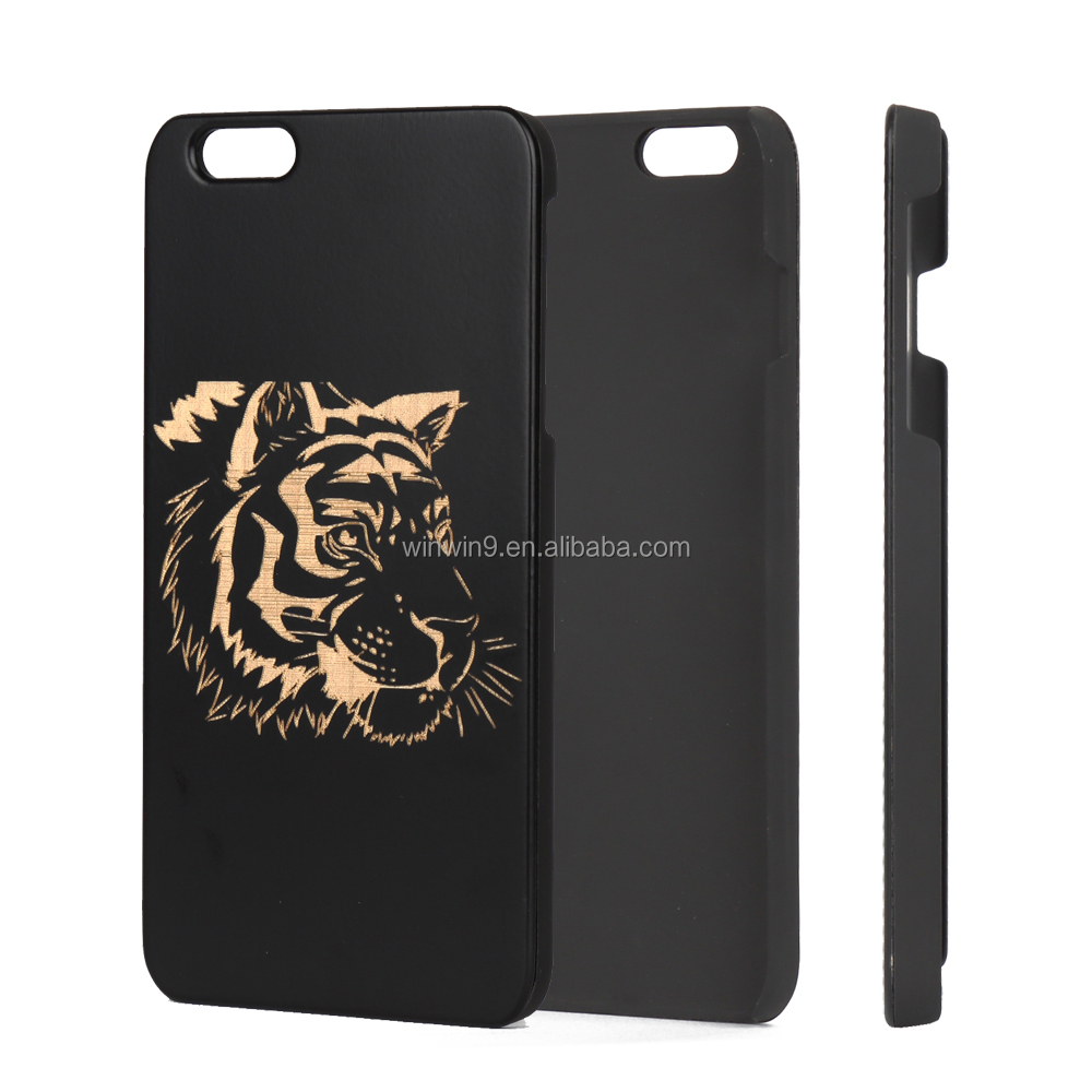Black bambooWood phone case for Iphone 6,cell phone accessory