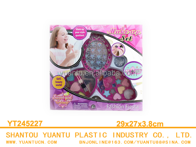 Children makeup toy set kids cosmetic kit,plastic new style children cosmetic set toy