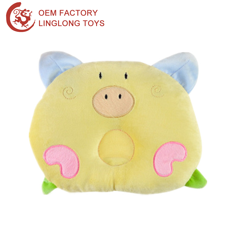 Animal Pig Toddler Baby Nursing Pillow Yellow Piggy Infant Headrest Cushion Plush Pig Baby Neck Protection Pillow