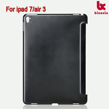 For ipad air 3 A003-2 folio matte PC leather case for ipad 7 tablet transparent cover new back case blank black color frosted