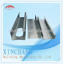 Frame ceiling metal stud for drywall partition