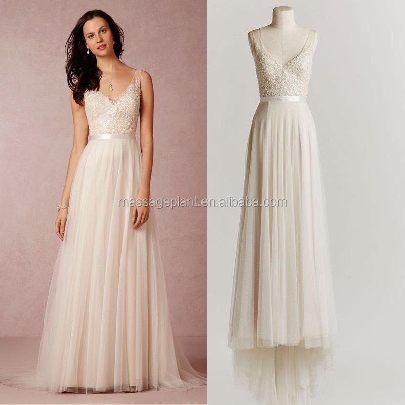 Bridal Gown Unique Wedding Gown Simple Bride Dress Lace Boho Wedding ...