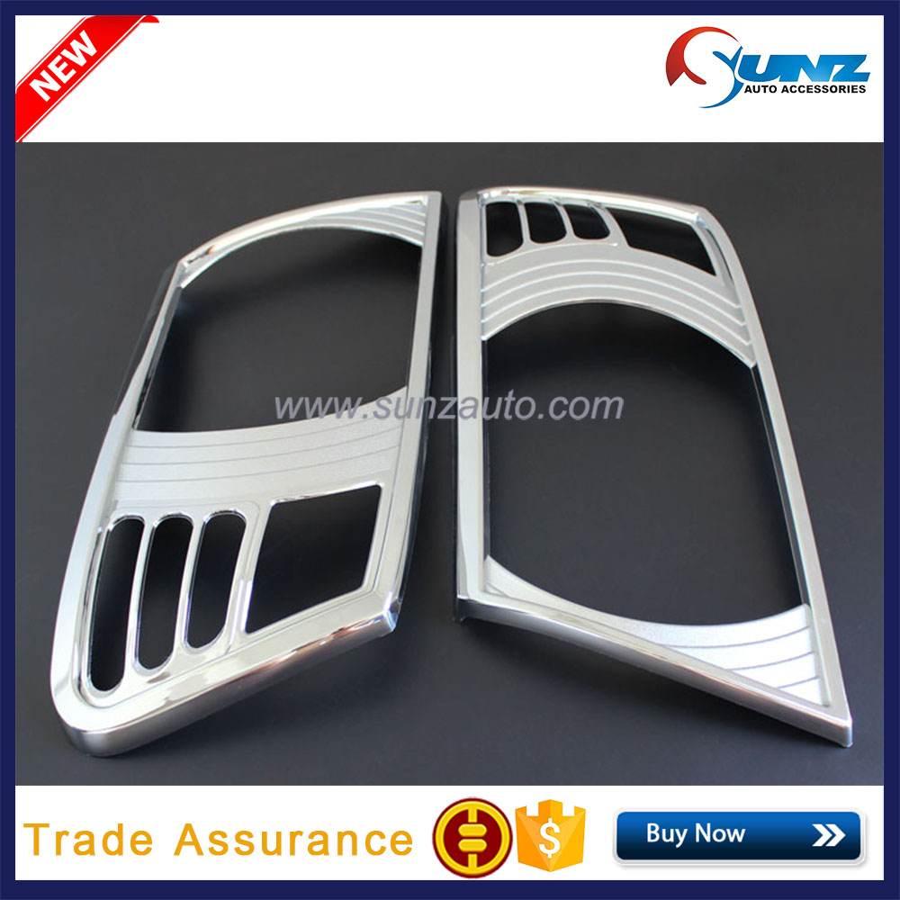 Chrome Head Light Cover For Mitsubishi Pajero V73 ABS Front Car lampshade ForPajero 2015