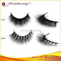 mink fur false eyelash 3D mink strip eyelash custom packaging private label wispy eyelash with glue