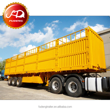 China manufacture trucks dry cargo box van semi trailer cattle carrier trailers for sale