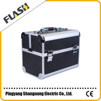 Luggage Cases New Cosmetic Case Durable Black Aluminum Cosmetic Case
