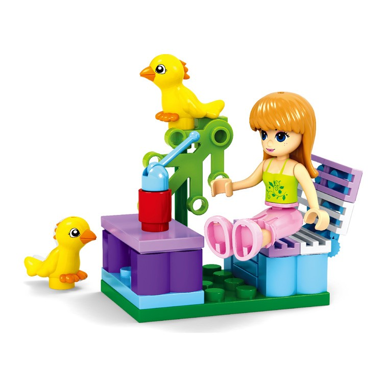 New cheap bulk plastic animal girls construction diy block toys for gifts