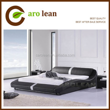 black leather leisure bed C308
