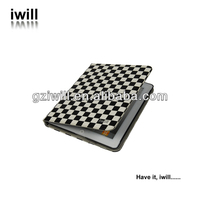 Newest Product Grid design Leather Case For ipad2/3/4