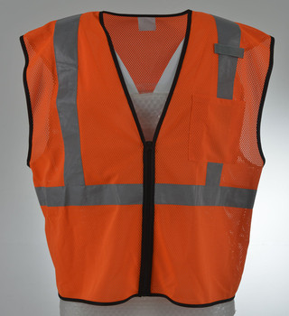 Fluorescent Yellow Hi Vis Safety Class 2 Vest with pocket