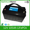 lithium ion battery 12V 105AH for trolling motor /electric equipment