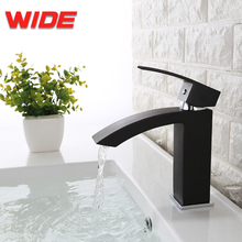 Wholesale deck mounted black basin faucet for bathroom
