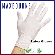Food Safe Industrial Grade Glove, Latex, Lightly Powdered, Smooth Rubber Latex