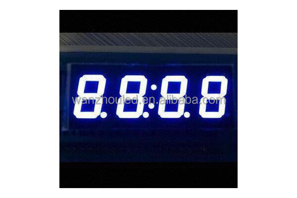 Small 0.36-inch white 7 Segment LED Digital Clock Display, RoHS Directive-compliant