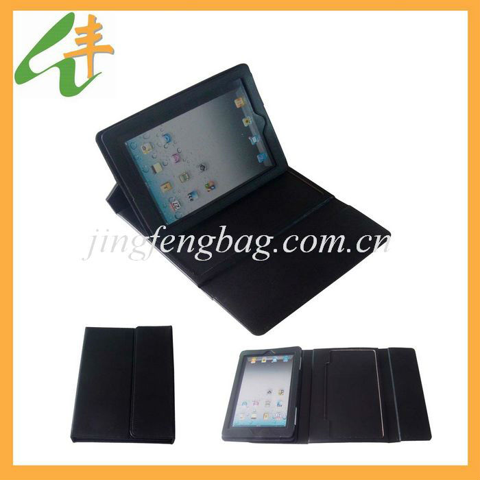 black color tablet leather case with good quality