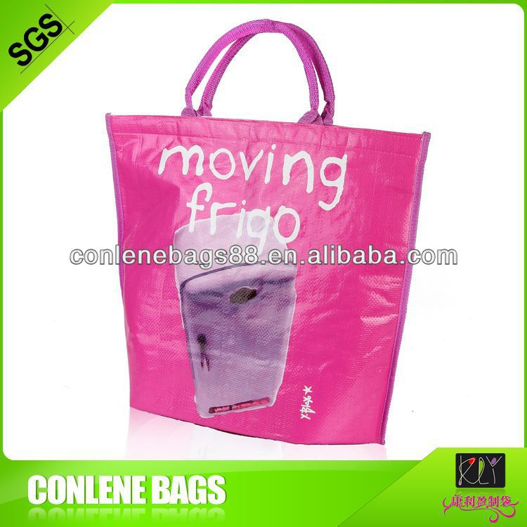 Laminated woven cooler Bags with velcro closure