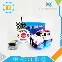 new product popular cartoon cute rc car mini toy mini bus with lights music