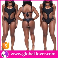 wholesale black halter hot hot sexi girls bikini model sexi swimsuits