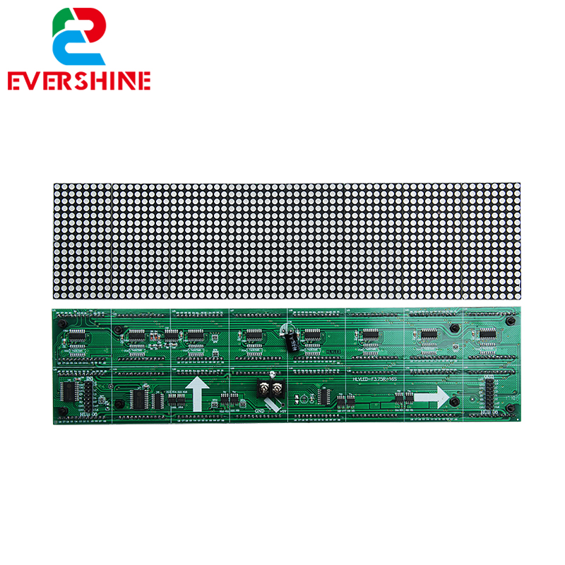 Alibaba China Indoor F3.75 P4.75 Red Color <strong>LED</strong> Dot Matrix Module 304*76mm 64*16 Pixels for <strong>LED</strong> <strong>Display</strong>
