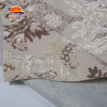 2017 China Super Poly flock Holland Velvet Fabric For Curtain