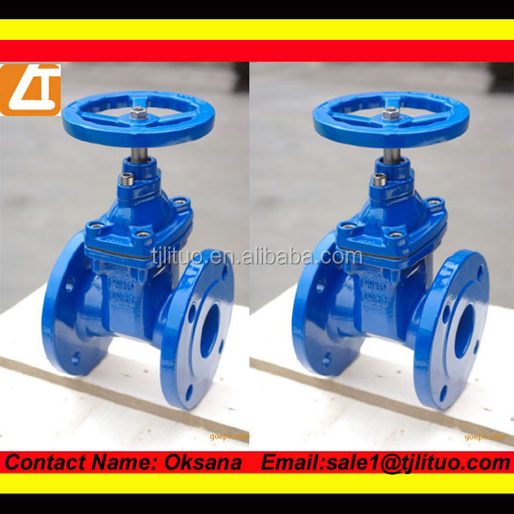 Factory!!!! Resilient seated ductile iron gate valve non-rising stem