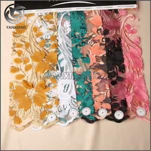 Wholesale Factory Price High-end 3D ODE Embroidery Fabric