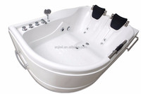 Professional Manufacture Back cushions White Corner Bathtub Price