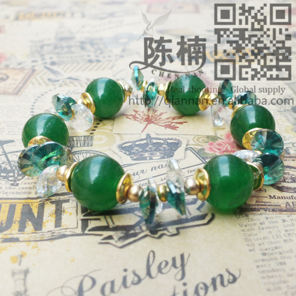 Pujiang Hot Fashion Dark Green Bracelet For Glass
