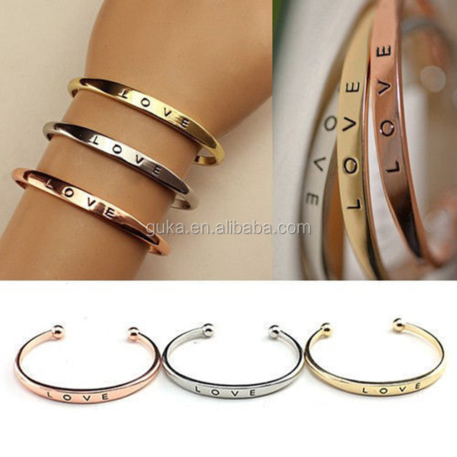 Hot Sale Carter Love Cuff Bracelet Stainless Steel Channel Bangles For Women