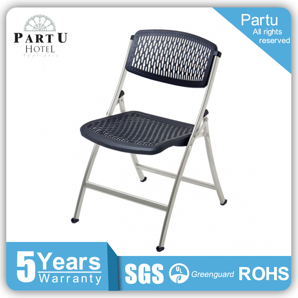 Partu Hold A Half Ton Weighs Black Seat And Backrest Foldable Metal Chair