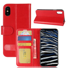 OEM Various styles Models Flip Wallet Case For apple iphone X pu leather cover